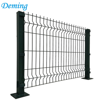 PVC coated black steel euro fence panel