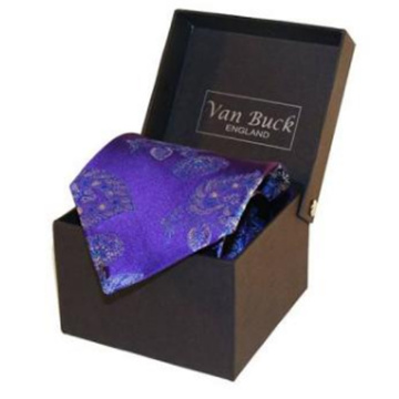 Wholesale custom luxury cardboard neck mens gift tie packaging box