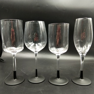 new arrival black base wine glass cups champagne