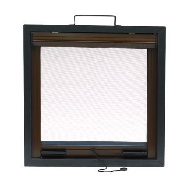 Retractable window with aluminum frame R0961