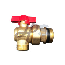 Aluminum handle brass ball angle ball valve