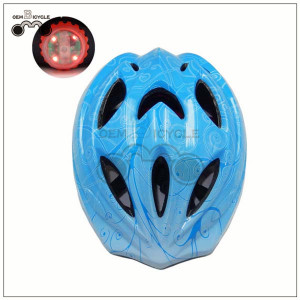 colorful kids bicycle bike helmet with tail light for sale