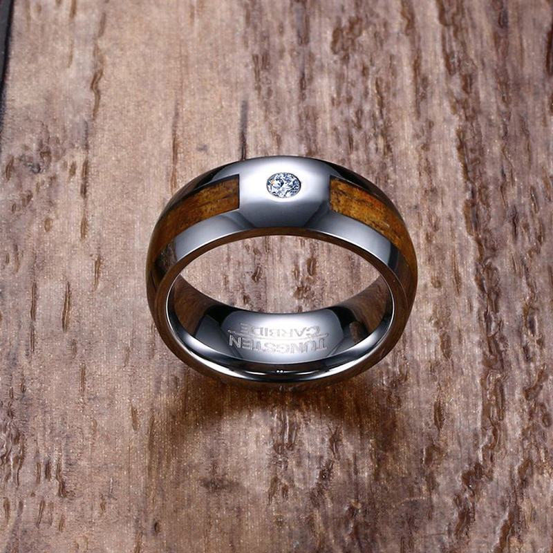 Tungsten Wood Wedding Band