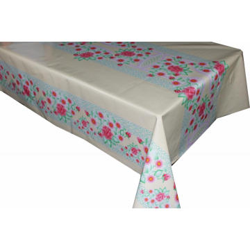 Pvc Printed fitted table covers Foot Christmas