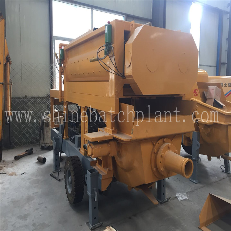 Mobile Concrete Pump with Mixer On Sale