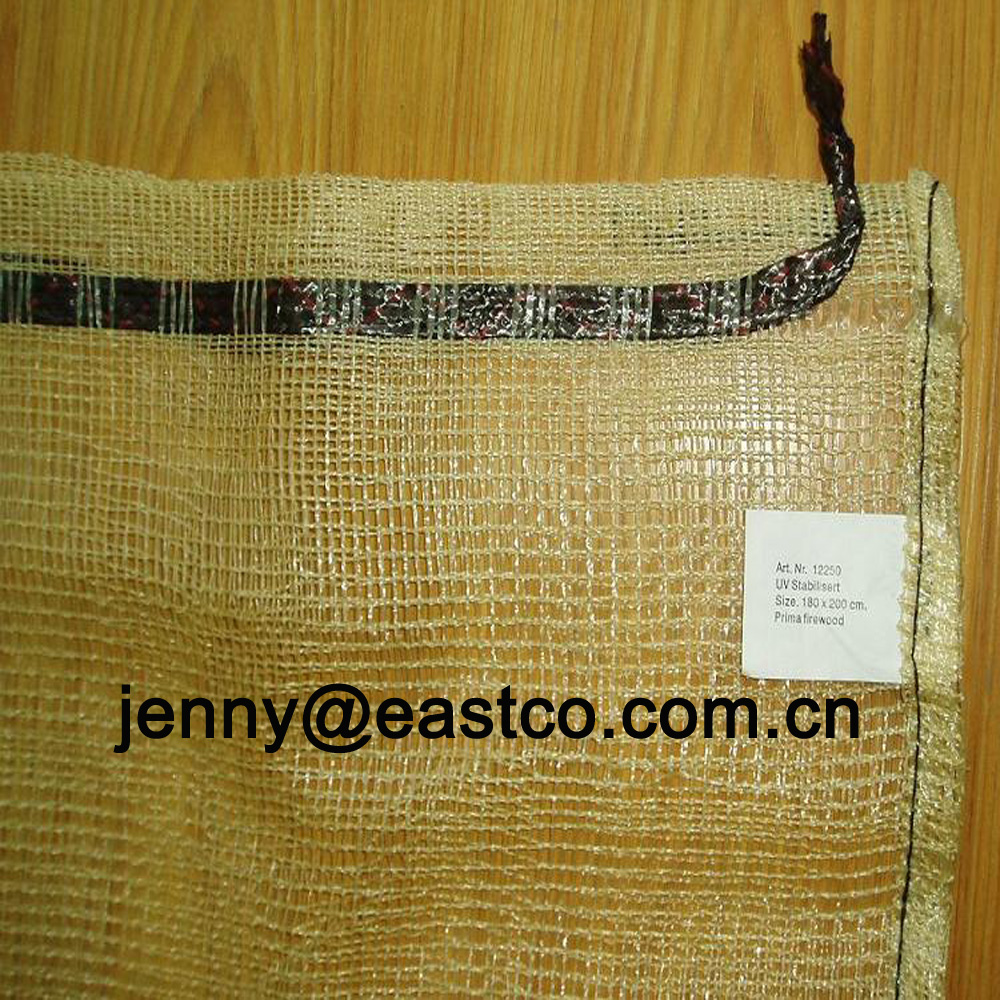 Bulk Lumber Wood Mesh Net Bag Sack