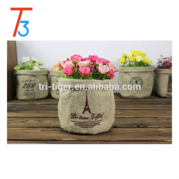 Decorative design fabric waste foldable basket storage