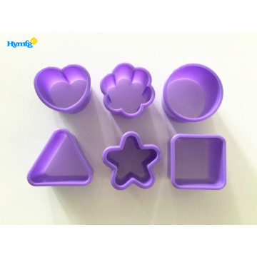 Plastic 6pcs Mini Cookie Cutter Set