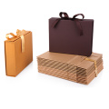 Luxury cardboard paper folding gift box with ribbon