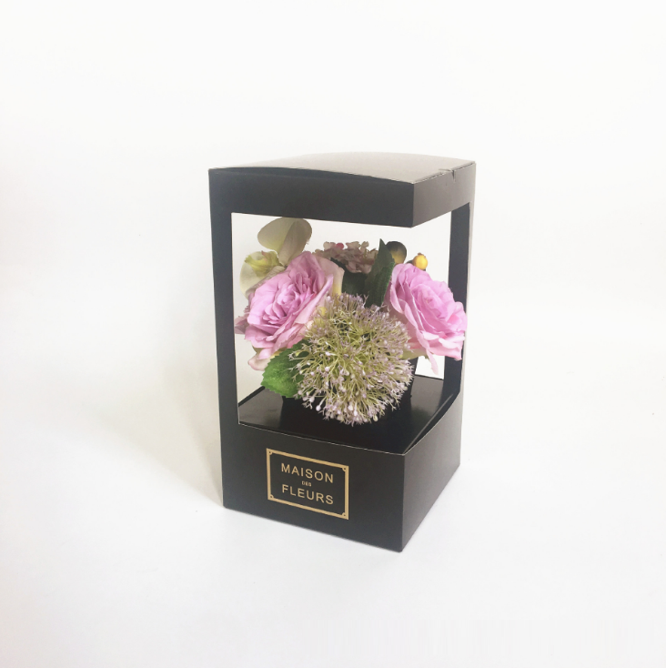 Foldable paper flower delivery boxes for sale