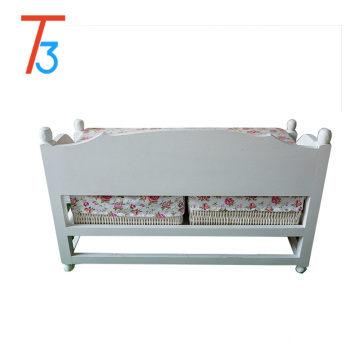 OEM/ODM for Shoe Storage Bench bench wooden shoe chair storage footstool weaving drawer supply to Armenia Wholesale