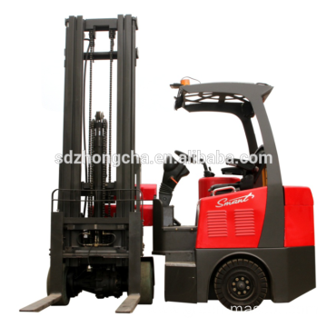 2500kg articulated narrow roadway electric forklift truck