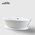 Acrylic Freestanding Bathtub with Brass Drain