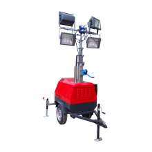 Night trailer lighting tower telescopic