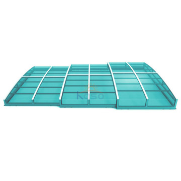 Roll Fabric Retractable Swimming Pool Cover For Pool