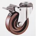 280℃ High temperature bolt hole brake caster