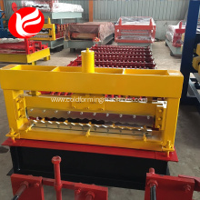 Color steel corrugated roof plate roll forming machine