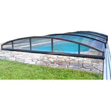 Enclosure Swimming Slat Roof Roller Automatic Pool Cover