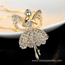 Customized for New style necklaces 2015  Gold Fairy Pendant export to Gabon Factory