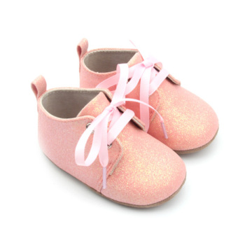Baby Oxford Shoes Pink Glitter Girls Baby Footwear