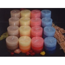 Long Burning Time Various Colors of Rustic Pillar Candle