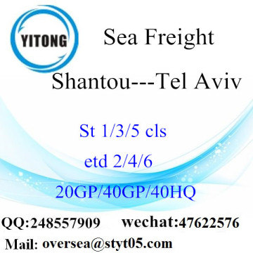 Shantou Port Sea Freight Shipping To Tel Aviv