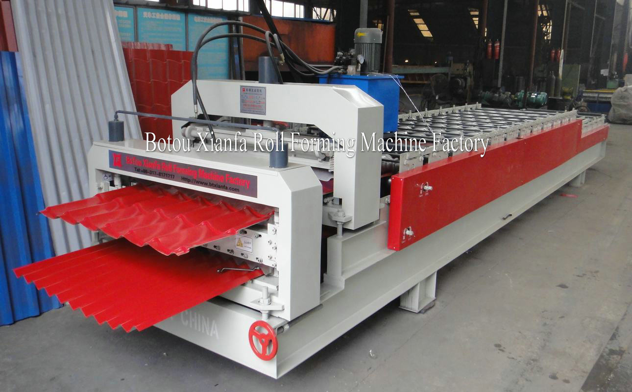 S-shape and glazed tile roll forming machine