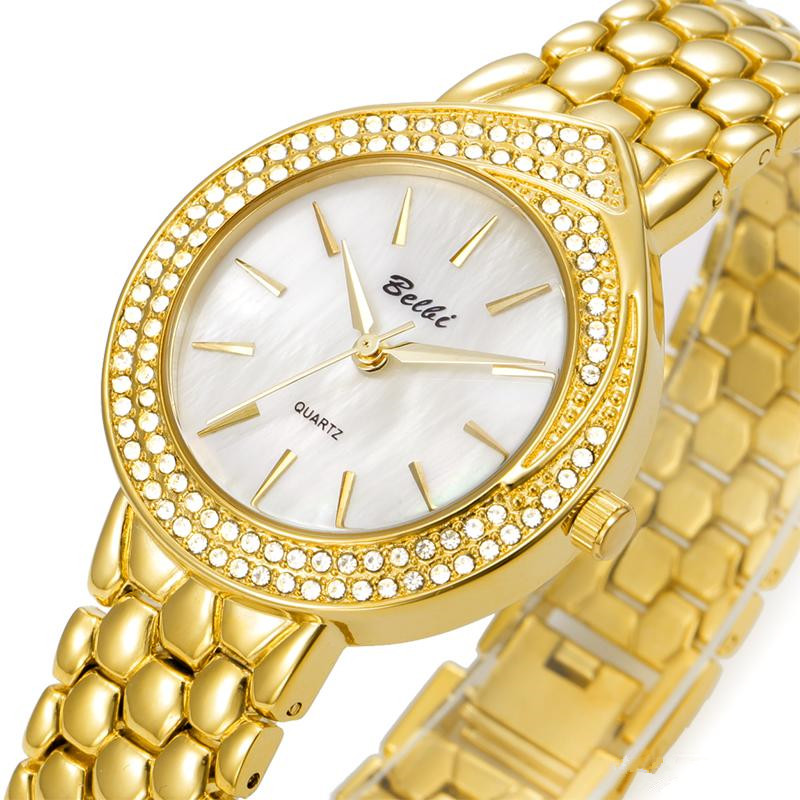 Stainless Steel Oval Waterproof Quartz Ladies Watch
