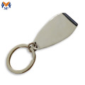 Bottle opener keyring with personalised engraved logo