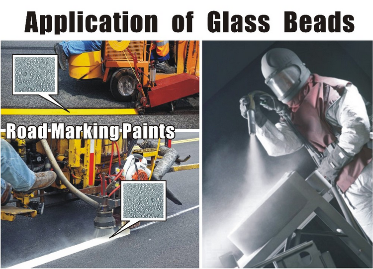 application of glass beads