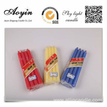 Factory directly provided for Yellow Candle Wedding Favors Colorful Paraffin Wax Stick Candle supply to French Southern Territories Importers