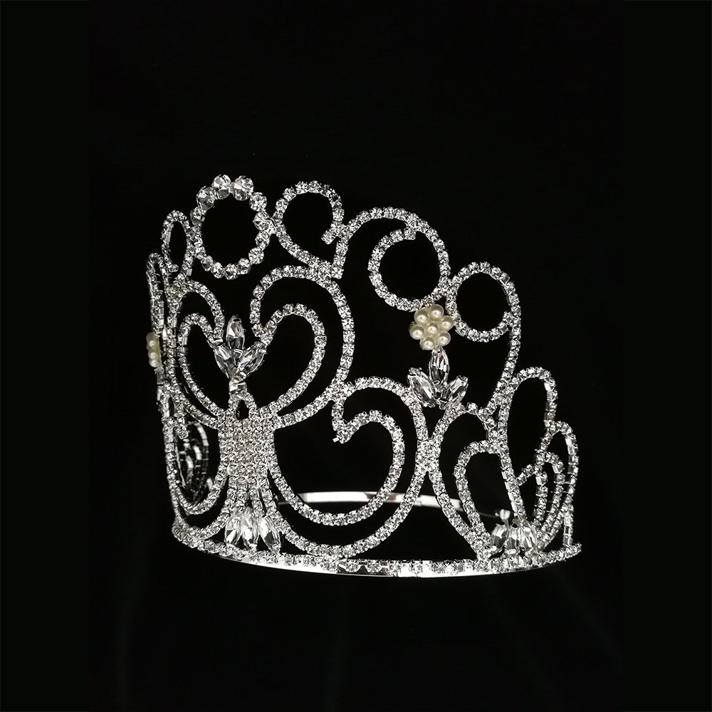 Pageant Beauty Pearls Tiara Wholesale Crown