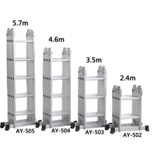BSCI 2 step aluminum multipurpose ladder