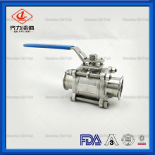Sanitary Stainless Steel 3PC Three Pieces Ball Valve