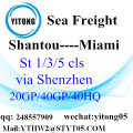 Cheap Sea Freight Rate to Miami