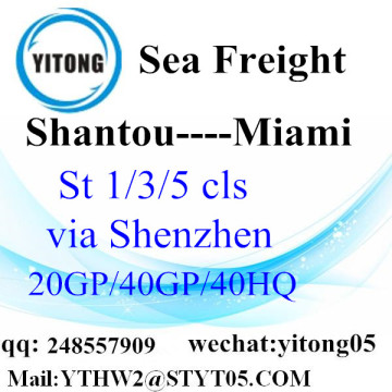 LCL Logistic Service From Shantou to Miami