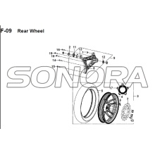 F-09 Rear Wheel JET 14 XS175T-2 For SYM Spare Part Top Quality
