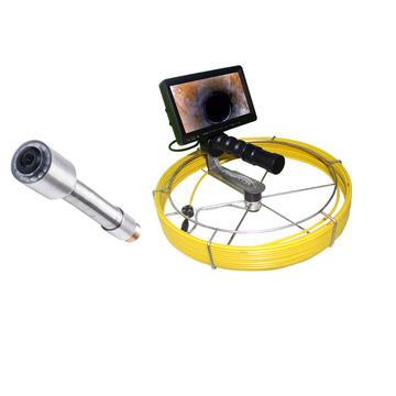 Horizontal Plumber Push Rod Pipe Inspection Camera