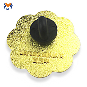 Flower shape custom metal badge lapel pins
