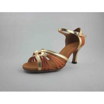 2.5 inch heel dark satin latin shoes