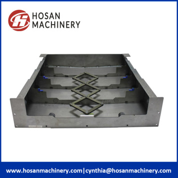 CNC rail protection steel accordion flexible tool