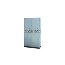Stainless steel seat two door wardrobe