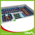 customized design indoor rectangle trampoline ,big indoor trampoline park