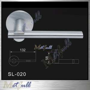 Flat Tube Stainless Steel Solid Lever Handle