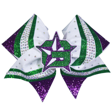 Good Quality for Cheer Bows custom logo mixed colors cheer style bows export to Marshall Islands Exporter