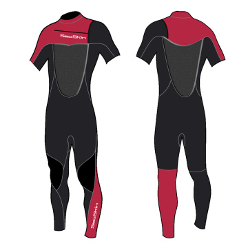 Seaskin Short Arm Flexible Spring Wetsuit for Surfing