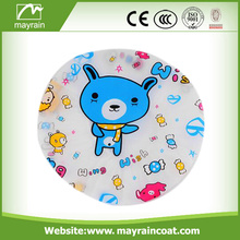 Customized Printing Pink Color Shower Cap