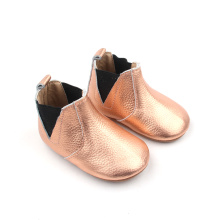 Good Quality for Baby Leather Boots Golden High Top Baby Boy Girl Boots export to United States Factory