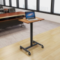 Pneumatic Height Adjustable Lectern with Wheels