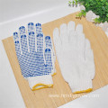 Wholesale White Cotton Bule PVC Dotted Work Gloves
